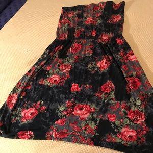 ASOS sleeveless gathered waist tube dress